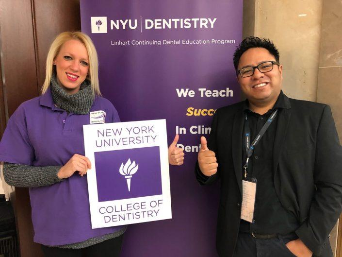 Nos hace mucha ilusión informar a nuestros PACIENTES que,El DR.ROMERO(Director de nuestra Clínica Dental New York Style(Barberá del Vallés) y LAURA PULGARIN(Encargada e Higienista),están en la Universidad de NUEVA YORK.☆☆☆ Una semana de Capacitación Intensiva☆☆☆